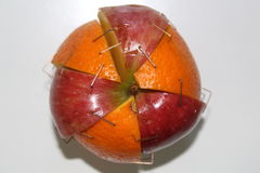 Apple ed arancia Immagini Stock