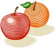 Apple ed arancio Fotografie Stock Libere da Diritti