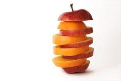 Apple ed arancio immagine stock
