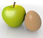 Apple ed uovo Immagine Stock Libera da Diritti