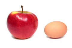 Apple and egg Stock Photo