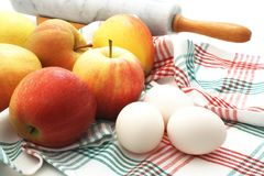Apple and eggs Stock Photo