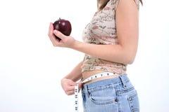 Apple ein Tagesgewicht-Verlust lizenzfreie stockbilder