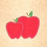 Apple-Einklebebuch-Hintergrund Lizenzfreie Stockfotografie