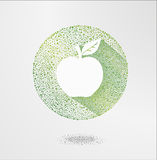 Apple Elementy dla projekta, Wektorowa jabłczana ilustracja Zielona jabłczana ikona, ekologia i życiorys karmowy pojęcie, Zdjęcie Stock
