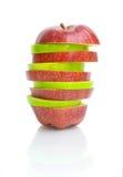 Apple em um fundo branco imagem de stock royalty free
