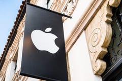 Apple-embleem royalty-vrije stock foto