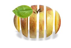 Apple en aire Fotografía de archivo libre de regalías