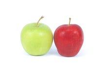 Apple en blanco Fotografía de archivo libre de regalías