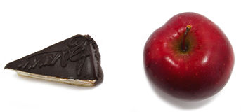 Apple en cake Stock Afbeelding