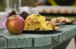 Apple en cake Stock Foto's