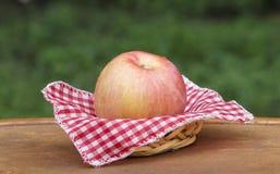 Apple en cesta Fotografía de archivo