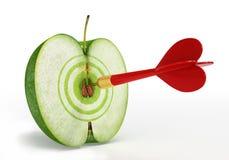 Apple en doel Royalty-vrije Stock Afbeelding