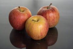 Apple en el agua Fotos de archivo