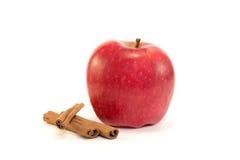 Apple en el fondo blanco Imagen de archivo libre de regalías