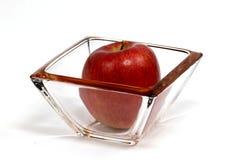 Apple en glas Stock Afbeeldingen