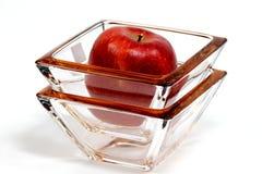 Apple en glas Stock Afbeelding