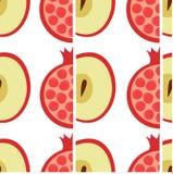 Apple en granaatappelpatroon vector illustratie