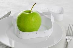 Apple en het meten van band Royalty-vrije Stock Foto's