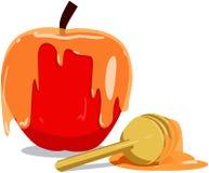 Apple en Honey For Rosh Hashanah Stock Fotografie