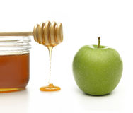 Apple en honing Stock Afbeelding