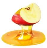 Apple en honing Stock Foto's