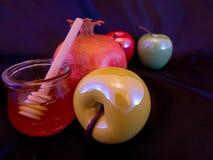 Apple en Honney voor Rosh Hashana stock afbeeldingen