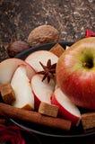 Apple en kruiden Royalty-vrije Stock Foto's