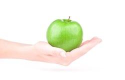 Apple en la mano Foto de archivo