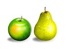Apple en peer Stock Afbeeldingen