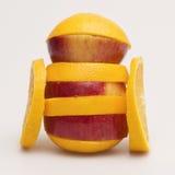 Apple en sinaasappel Stock Foto's