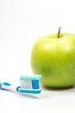 Apple en tandpasta Royalty-vrije Stock Foto