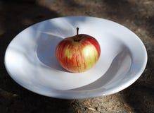 Apple en una placa imagen de archivo
