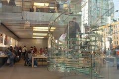 Apple entreposé à New York City Image stock