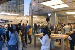 Apple entreposé à San Francisco Images libres de droits