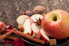 Apple et épices Photo libre de droits