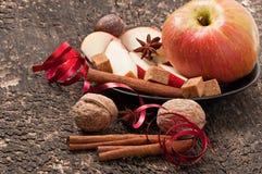 Apple et épices Photo stock