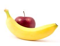 Apple et banane Image libre de droits