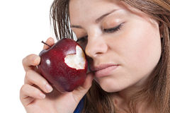 Apple et coeur Photos libres de droits