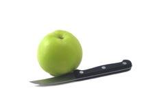 Apple et couteau (1) Photos stock