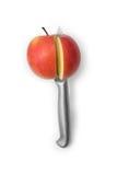 Apple et couteau Photo stock