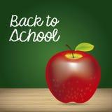 Apple et de nouveau à l'école Photos stock