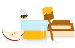 Apple et miel illustration de vecteur