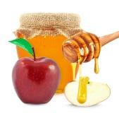 Apple et miel Photos stock
