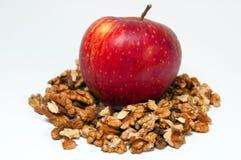 Apple et noix Images libres de droits