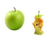 Apple et noyau de pomme Image libre de droits