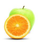 Apple et orange photo stock
