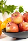 Apple et oranges photographie stock