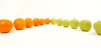 Apple et oranges Image libre de droits