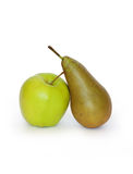 Apple et poire Photo stock